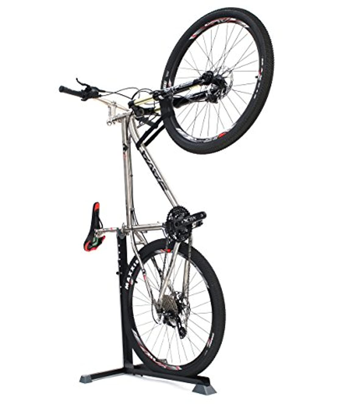 ヤギ狂うグッゲンハイム美術館Vélo Line(ベロライン) クイック縦置きバイクスタンド 高さ5段階調節可能 20インチ~29インチ対応 タイヤ幅~2.125インチ対応 ハンドル固定バンド付属 86939-0099