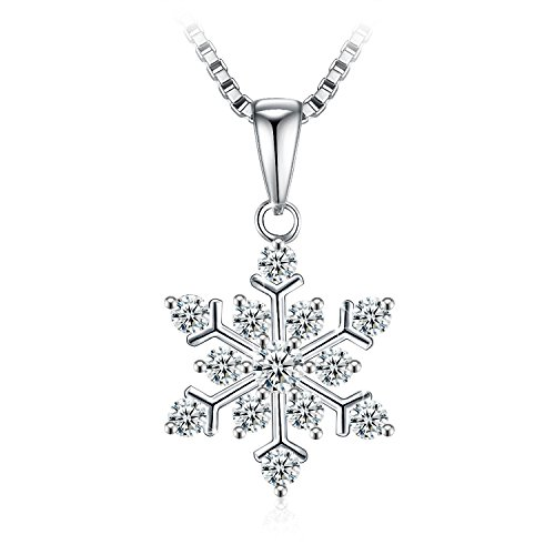 J.Rosée レディースネックレス シルバー925 ジルコニア「 粉雪」雪の結晶 プレゼント誕生日 記念日