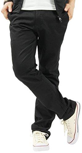 チノパン ワークパンツ ロングパンツ メンズパンツ カジュアル Lサイズ ブラック
