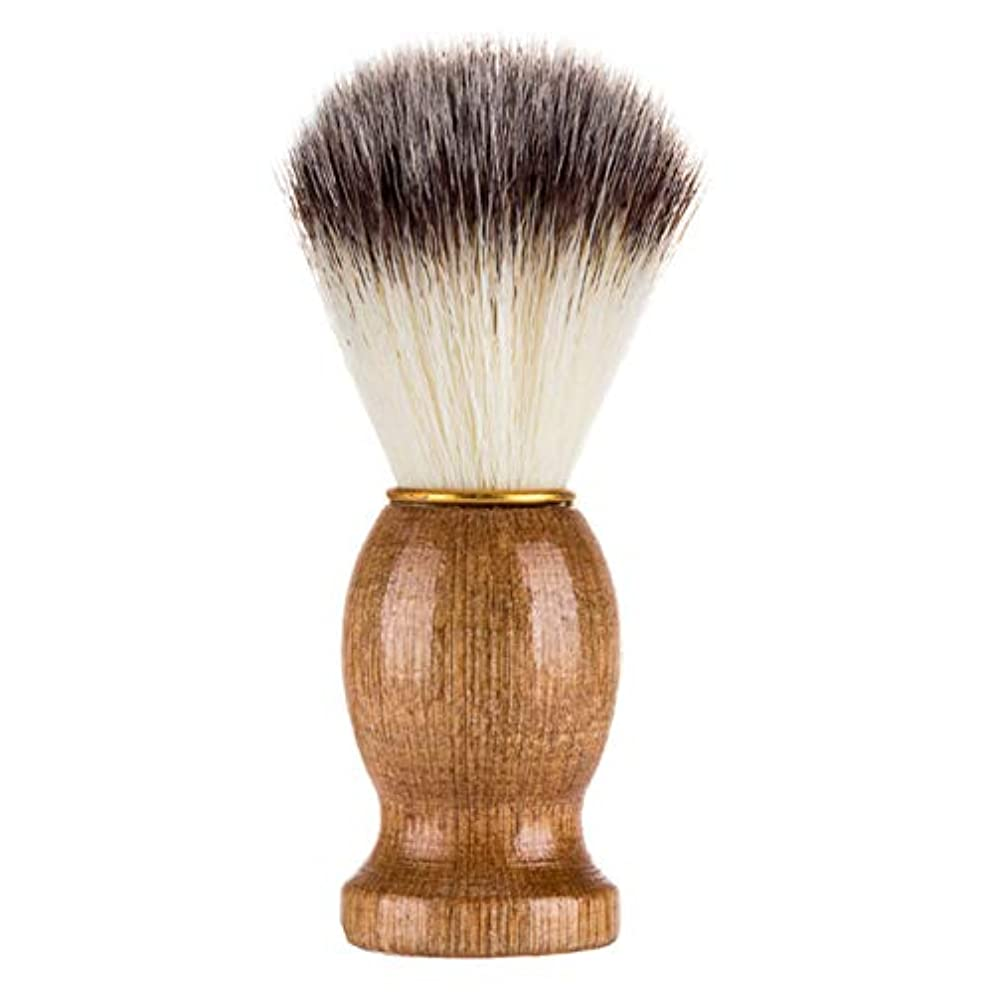 パリティ着替えるナイトスポットWadachikis 望ましい男性シェービングブラシヘアブラシは、木のハンドルバーバーツール顔クリーナー(None 1)
