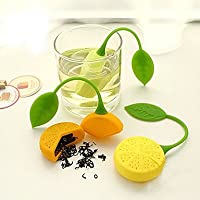 どのように-コーヒー&ティー用品 @ シリコーン マニュアル レモン 3個 ストレーナー/茶こし/ギフト/日常/茶色:葉っぱ