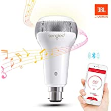 Sengled C01-A66EAB22W Solo Dimmable LED Bulb with Built-In Bluetooth Dual Channel JBL Speakers, Smart Music Light App Controlled, White, B22