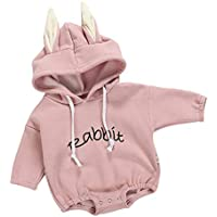 0a20c7c929d0 ALLAIBB Long Sleeve Hooded Romper Pullover Jumpsuit for Baby Infant Girls  and Boys