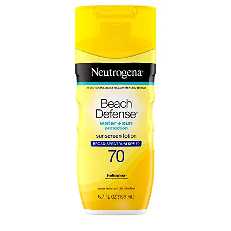 中古私のギャップ海外直送品Neutrogena Neutrogena Beach Defense Lotion SPF 70, 6.7 oz