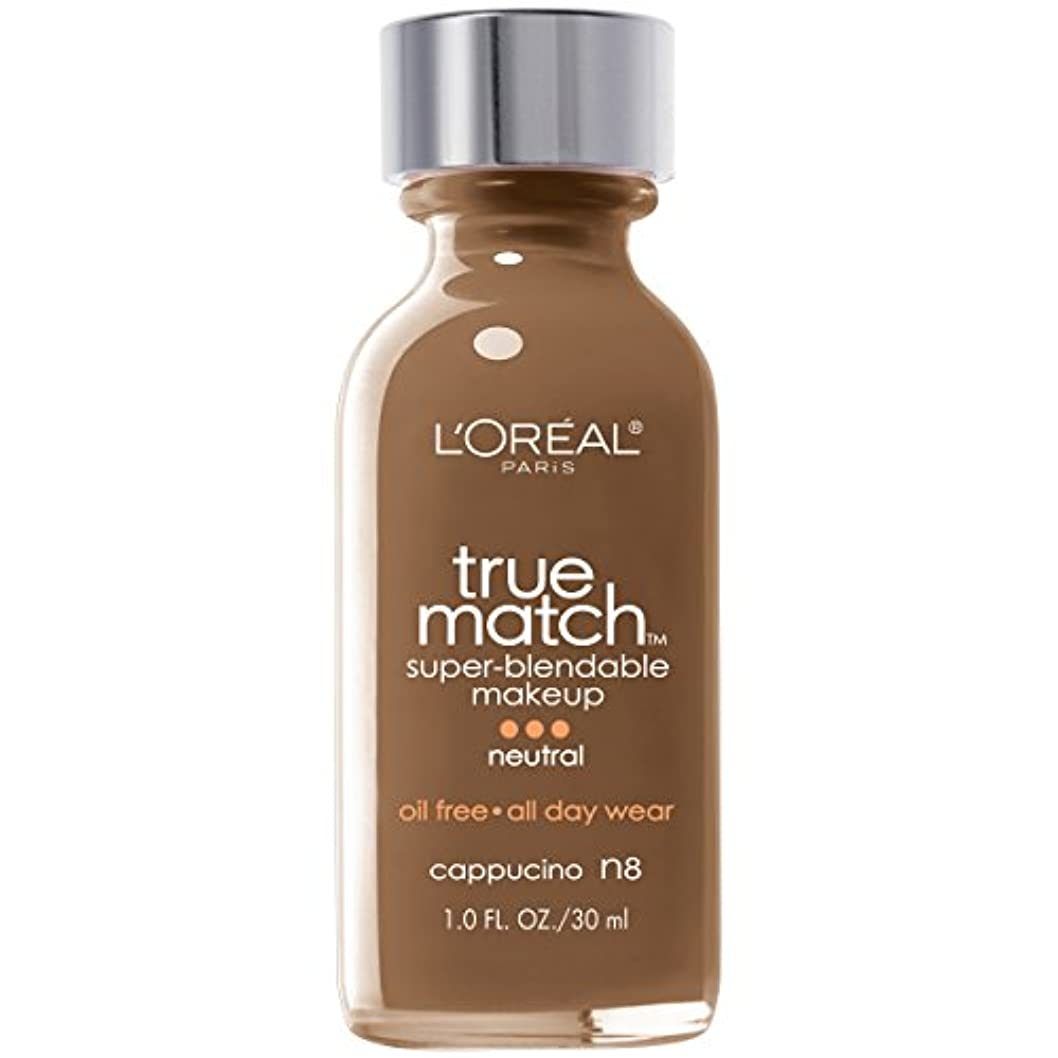 安全でない実行可能パンチL'Oréal True Match Super-Blendable Foundation Makeup (CAPPUCCINO)