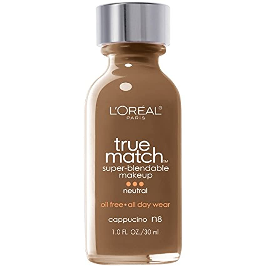 第利用可能やがてL'Oréal True Match Super-Blendable Foundation Makeup (CAPPUCCINO)