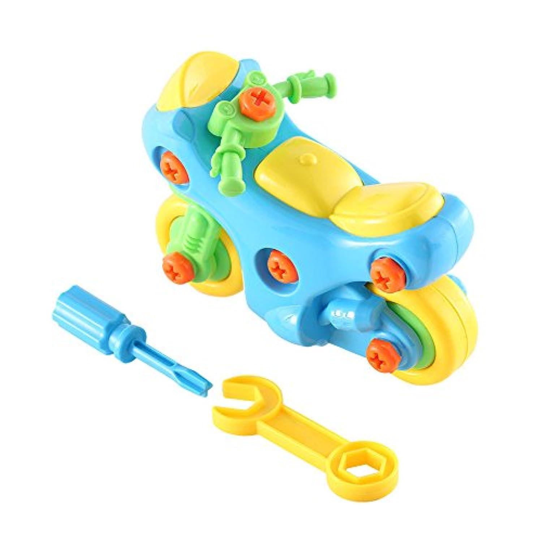 アセンブリMotorbikeおもちゃ教育&学習構築ブロックMotorcycle Toyキット