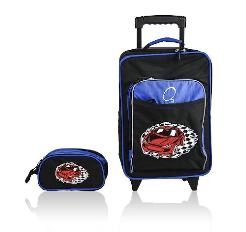 巨大バナナ時Obersee Kids Luggage and Toiletry Bag Set, Racecar by Obersee [並行輸入品]