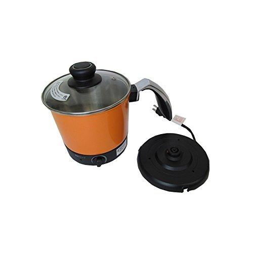 【約5分でラーメンが出来上がる!ケトルタイプの一人鍋】ケトルタイプ 電気式 らーめん鍋 FD-1600