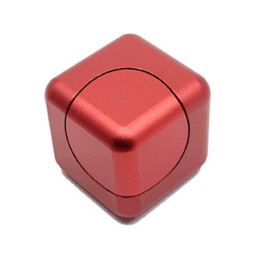 Vicstar Hand spinner Fidget Spinner ハンドスピナー スピン ウィジェット ブロックタイプ 立方体 重量感 フォーカス玩具 EDC玩具 デスク玩具 ストレス解消 時間をつぶす 超耐久性 高速 電子 亜鉛合金 安全性高い レッド