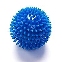 深い組織のマッサージボール、スパイクヨガフィットネスボールの足の唯一のフィットネスヨガマッサージプレーヤーのパームの筋肉のリラクゼーションヘッジホッグボール (色 : 青)