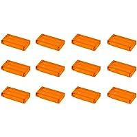 レゴ(LEGO) タイル パーツ [透明橙色(トランスオレンジ色)] 1x2 12枚セット【3026b】