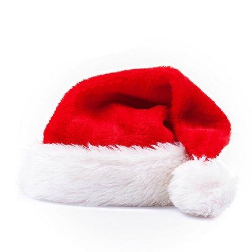 ふわふわ サンタクロース 帽子 コスチューム用小物 赤 大人用 約52cm