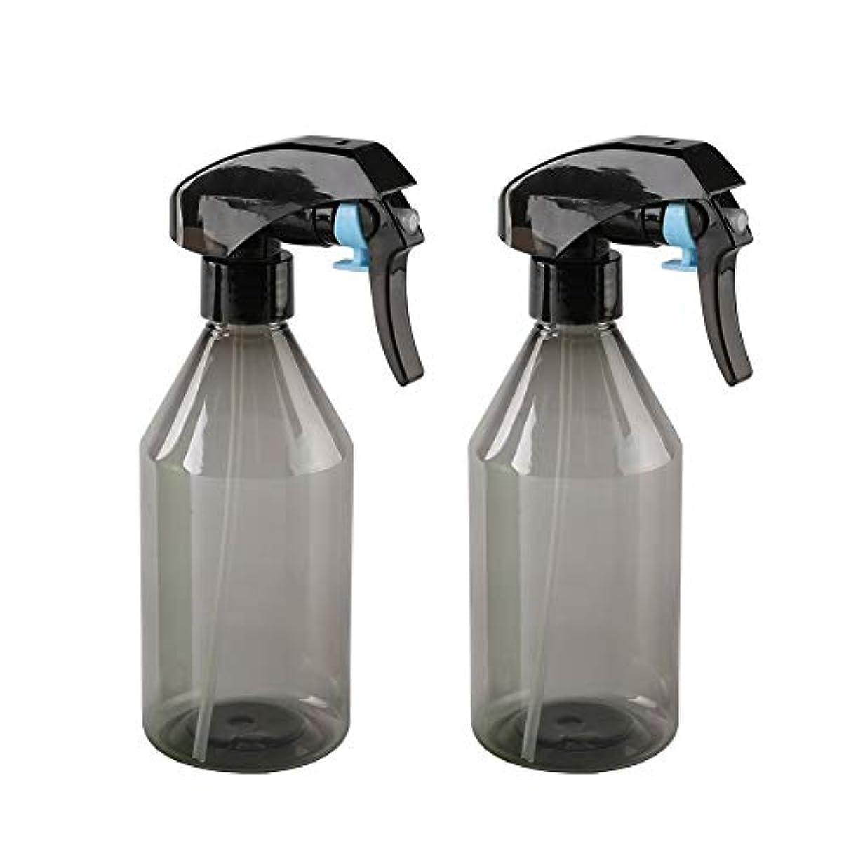ジャズ機会ストライドプラスチックエアスプレーボトル 超微細スプレー 詰め替え式スプレー容器 - 掃除、植物、ヘアー用 300ml*2個 (グレイ)