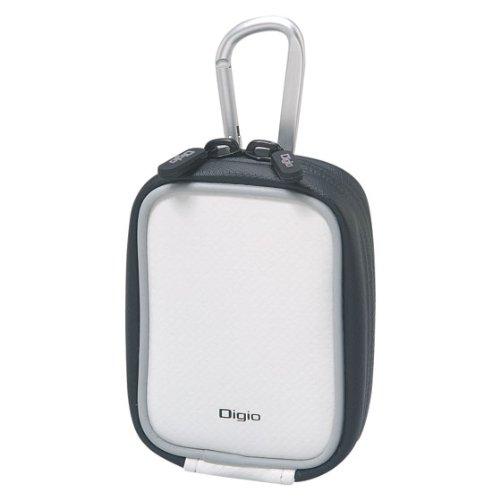 Digio デジタルカメラケース カラビナ付 ホワイト DCC-052W