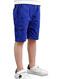 FEVON ハーフパンツ 男の子 子供服 ショートパンツ 夏 キッズ ボーイズ ボトムス 綿 ウェストゴム カジュアル ゆったり 快適 おしゃれ かっこいい 半ズボン 五分丈 短パン 通園 通学