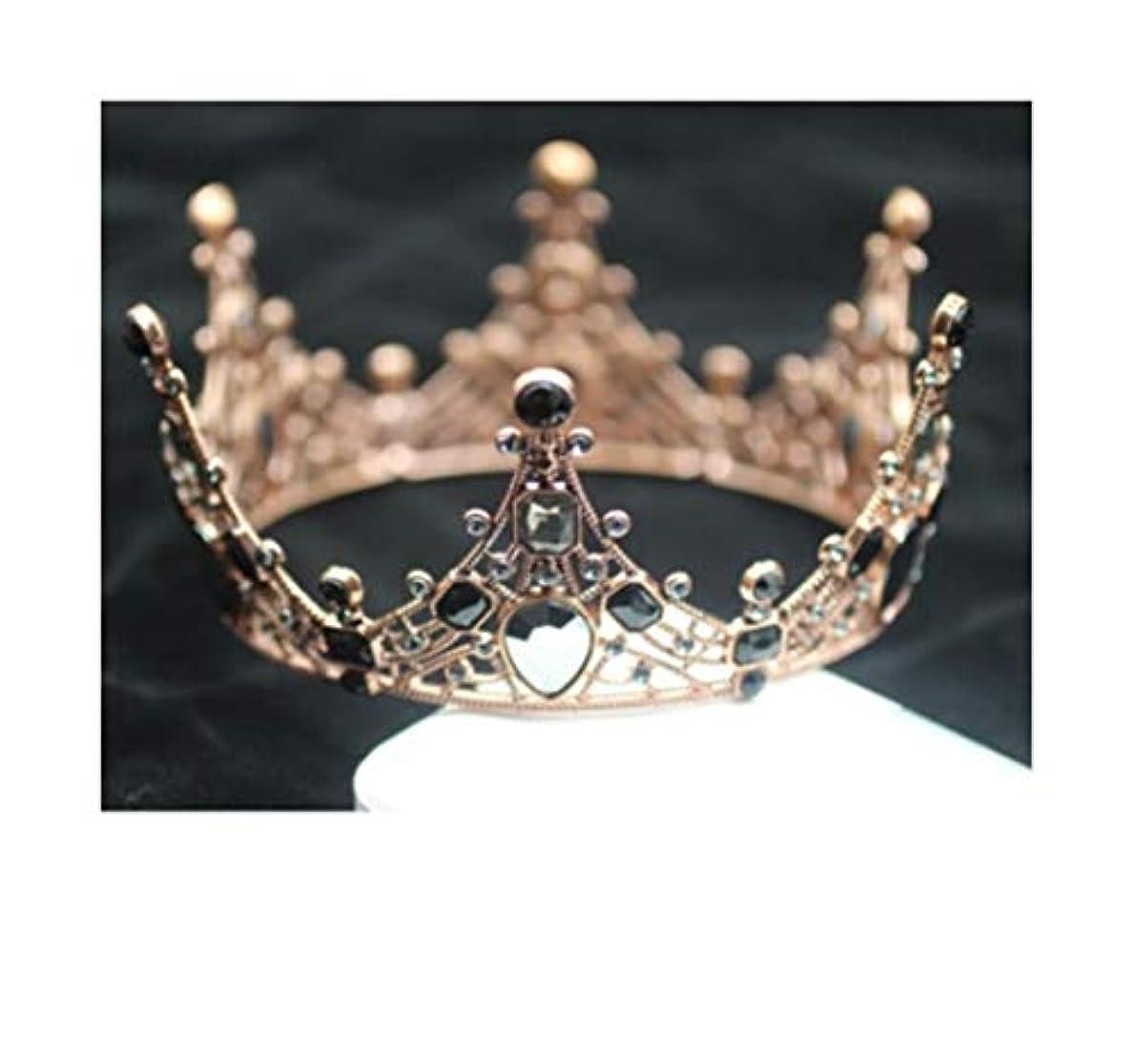 キャンディーリハーサル特別にクラウンケーキのデコレーションの装飾品の誕生日パーティーのベーキングの装飾の大人の女王の王冠ティアラ子供の王冠の金ミニ王冠 (スタイル : 1#)