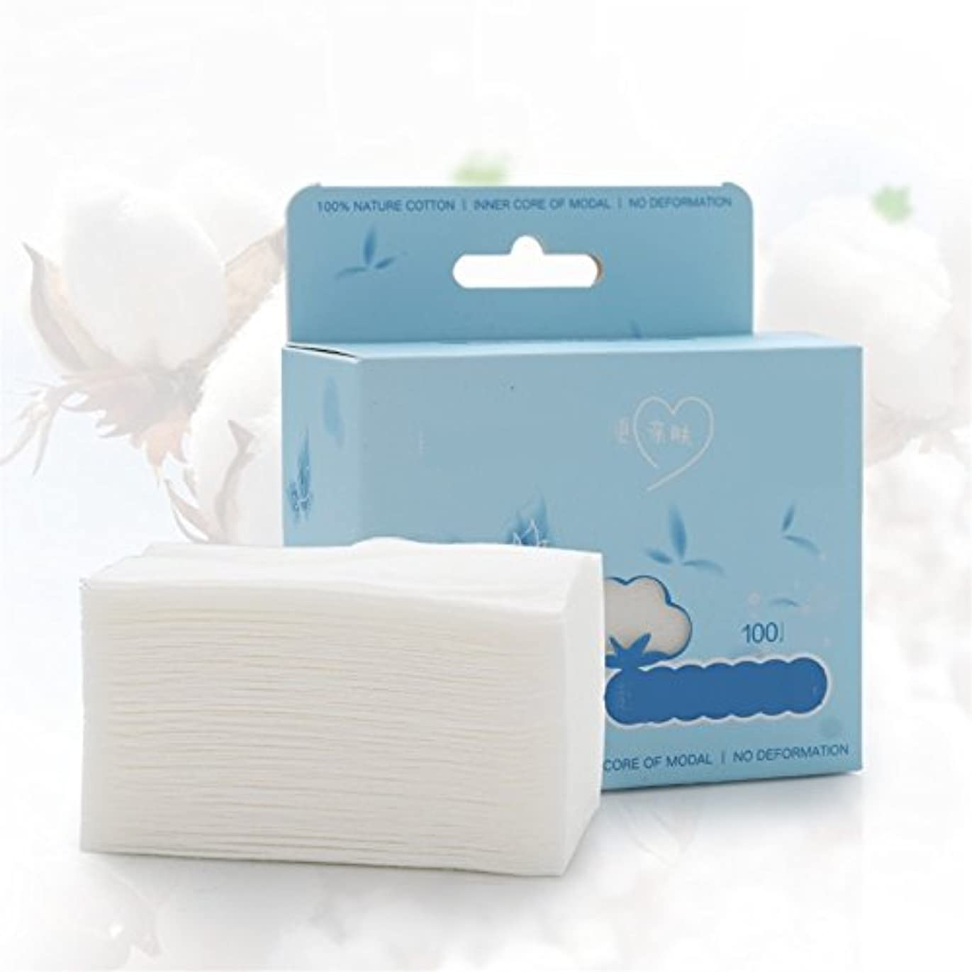 注意ミシンおもちゃAorunji 柔らかい オーガニックコットンコスメティックパッド高品質のリントフリーフェイシャルメイクリムーバークリーニングコットンベストトラベル(Appr.100pcs)