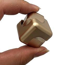 Smato 指スピナー スピン ウィジェット フォーカス 玩具 ハンドスピナー Hand spinner Fidget Spinner Toy EDC ADHD ストレス解消 暇つぶし 脳トレー ボールベアリング (ゴールド(cube型))