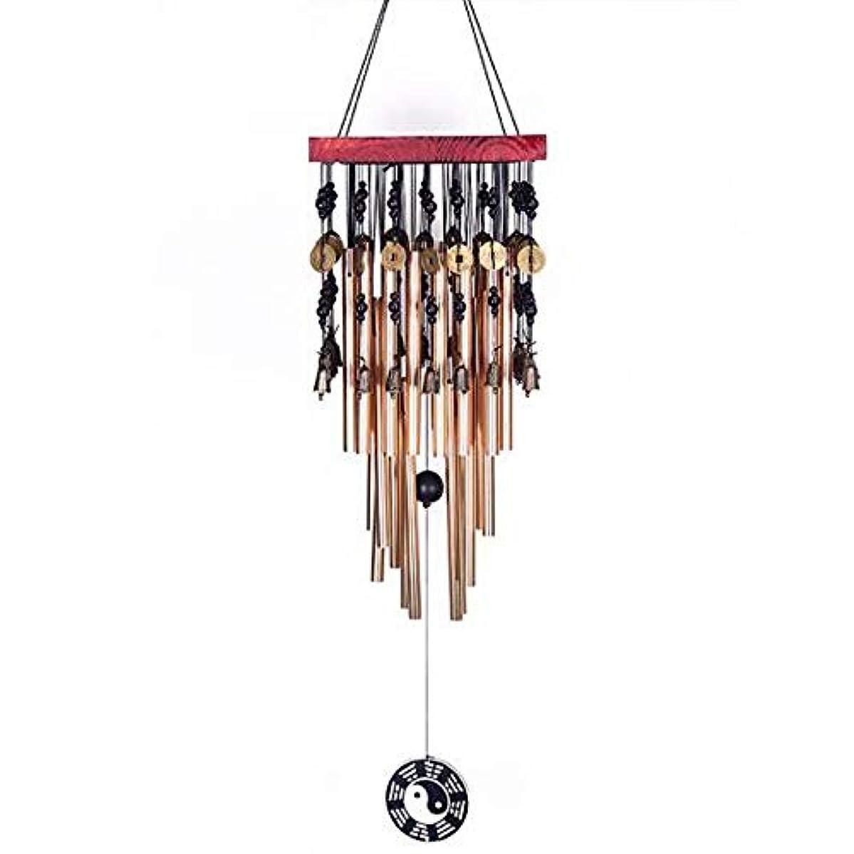くるみ木材羨望Hongyushanghang 風チャイム、メタルホームペンダント風の鐘、ゴールド、全身について80CM,、ジュエリークリエイティブホリデーギフトを掛ける (Color : B)