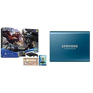 PlayStation 4 MONSTER HUNTER: WORLD Value Pack 【Amazon.co.jp限定】オリジナルカスタムテーマ 配信 + Samsung 外付けSSD T5 500GB USB3.1 Gen2対応 MU-PA500B/IT セット