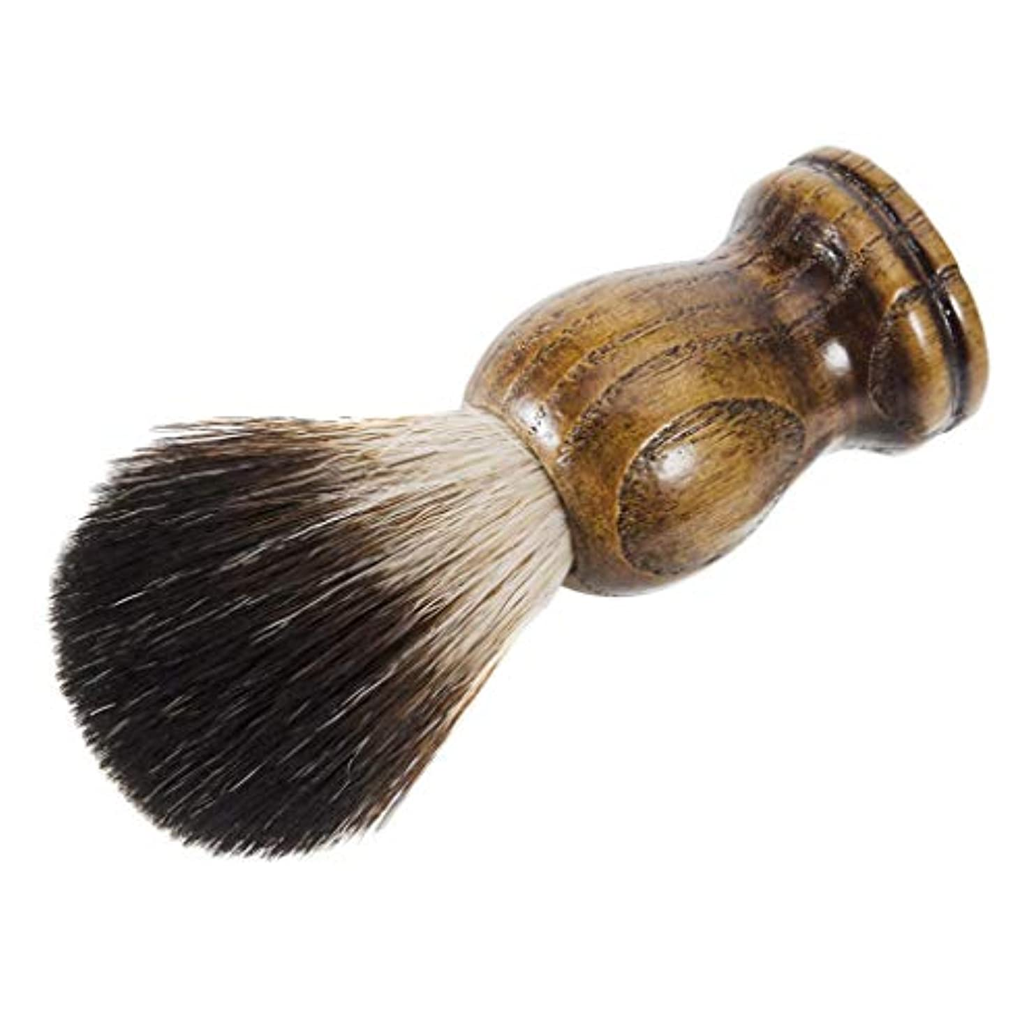 年金受給者エレガント抗議ひげブラシ シェービング ブラシ メンズ 理容 洗顔 髭剃り 泡立ち 父の日 贈り物