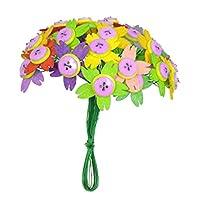 Sharplace 花束 フェルト ボタン 装飾 花 手作り 初心者 子供 簡単 全4種 - 桜