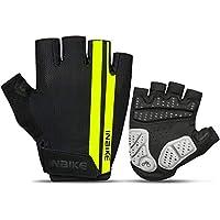 INBIKE(インバイク) サイクルグローブ 運動グローブ  半指 指切り 滑り止め付き 通気性 (グリーン, M)