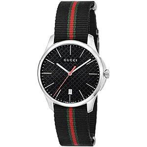 [グッチ]GUCCI 腕時計 Gタイムレス ブラック文字盤 YA126321 【並行輸入品】
