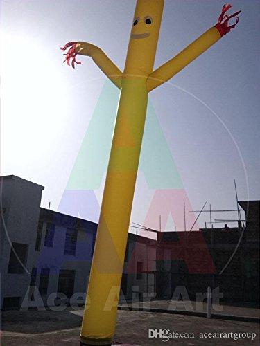 1 新しいカスタム広告黄色膨張式エアダンサーイベントのゴムボート 1 leg スカイダンサー、無料配送のピース