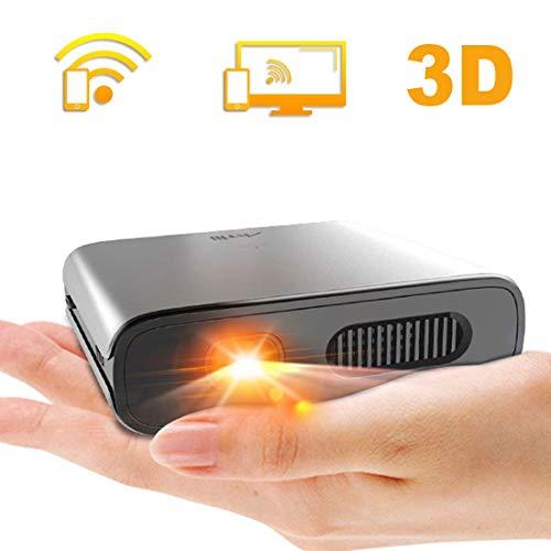 ミニ プロジェクター DLP 小型 Artlii 3D対応 HDML対応 大角度 自動台形補正 WIFI機能支持 3時間連続使用 5200mAh充電式バッテリー内蔵 モバイルオフィスや家庭での使用をサポート