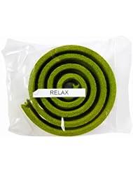 お香/うずまき香 RELAX リラックス 直径5cm×5巻セット [並行輸入品]