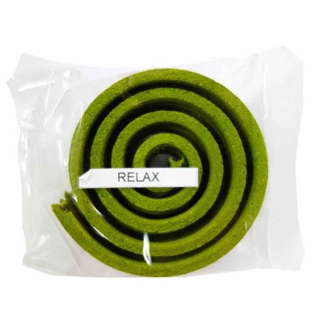腐食する裁量ビルダーお香/うずまき香 RELAX リラックス 直径5cm×5巻セット [並行輸入品]