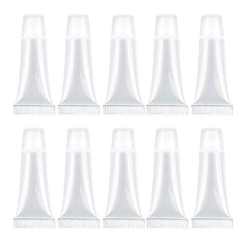 チューブ 容器 ゴシレ Gosear リップグロスチューブ 10個8ml ミニ空充填プラスチックリップグロス透明チューブボトル化粧品容器セット