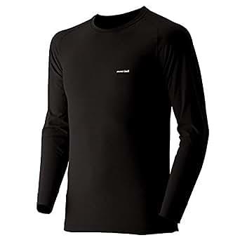 (モンベル)mont-bell ジオラインL.W.ラウンドネックシャツ Men's 1107486 BK ブラック L