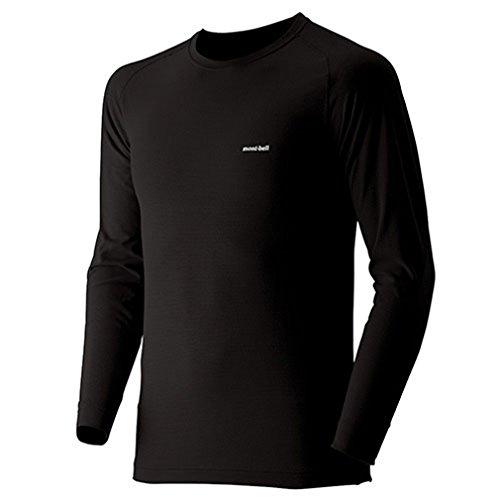 (モンベル)mont-bell ジオラインL.W.ラウンドネックシャツ Men's 1107486 BK ブラック M