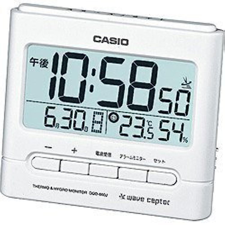 カシオ 電波目覚まし時計 「ウェーブセプター」 DQD-660J-7BJF(ホワイト)