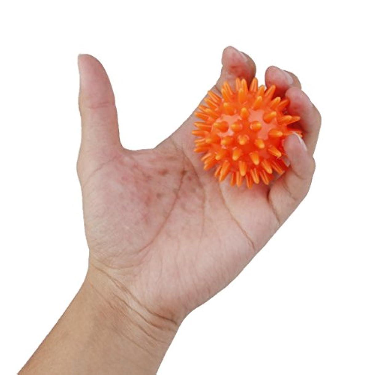 お尻山授業料マッサージボール 手のひら 足 腕 首 背中 足首 ダーク フック側 マッサージ 疲れ 緩和 オレンジ
