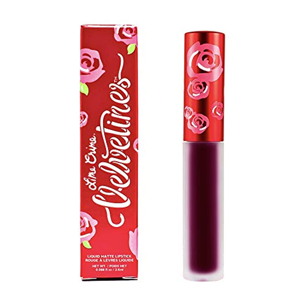 試用ミルク主要なLime Crime Velvetines Long Lasting Liquid Matte Lipstick (Scandal)