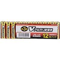 アルカリ単3乾電池 12本 LR6/S12P/V