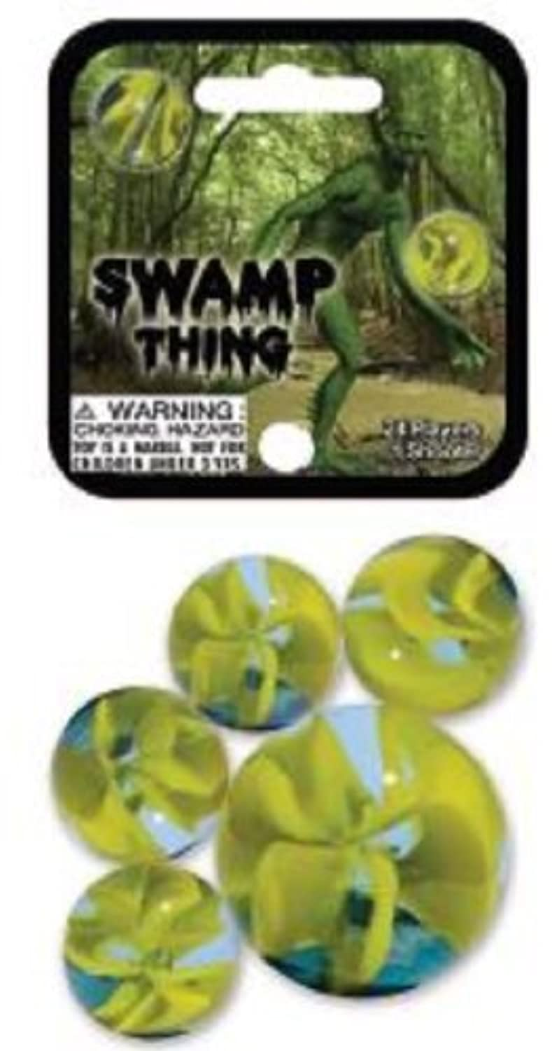 Swamp Thing Game Net Set 25 Piece Glass Mega Marbles Toy