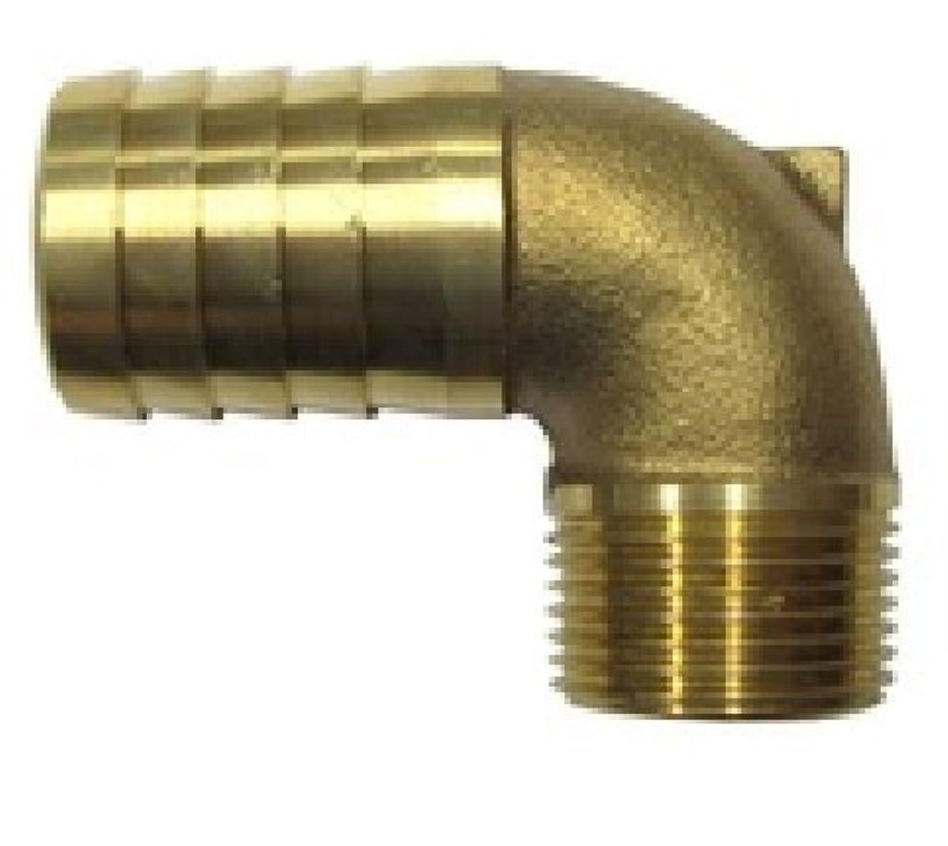 惑星スティック実際一体型ホースエルボ 1 (25A) ネジ外径 34mm 使用ホース 25mmL型 ホース継ぎ手 ホース継手 ホース