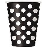 Black and White Dots Cups (6) 黒と白のドットカップ(6)?ハロウィン?クリスマス?