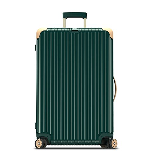 (リモワ) RIMOWA スーツケース キャリーバッグ Bossa Nova ボサノバ MULTIWHEEL キャビンマルチホイール 870.73.41.4 [TSAロック 日本語取扱説明書 1年保証 付き] (84L, グリーン×ベージュ)