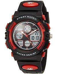 [スクメイ]SKMEI アナデジ腕時計 子供用タフアナデジ レッド 1163 ボーイズ 【並行輸入品】