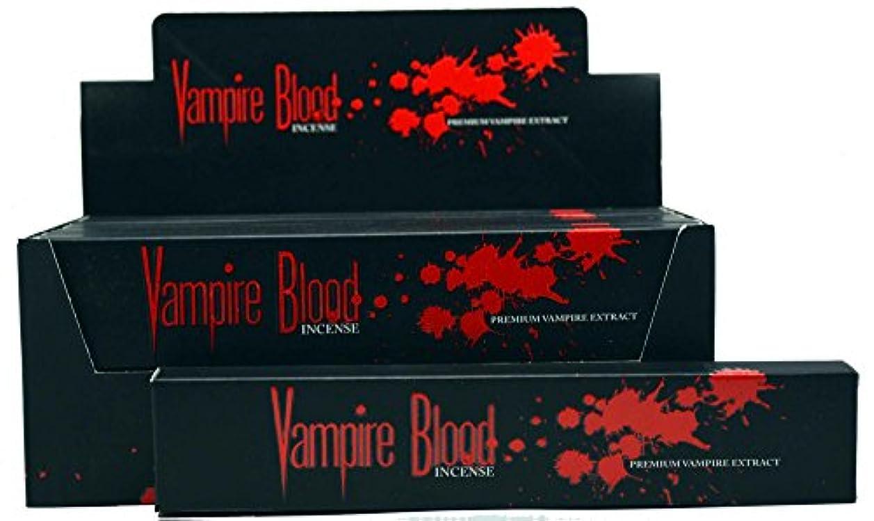 クレタ広がり独立してNandita Vampire Blood Incense Sticks Agarbathi – 15 Gボックス ブラウン