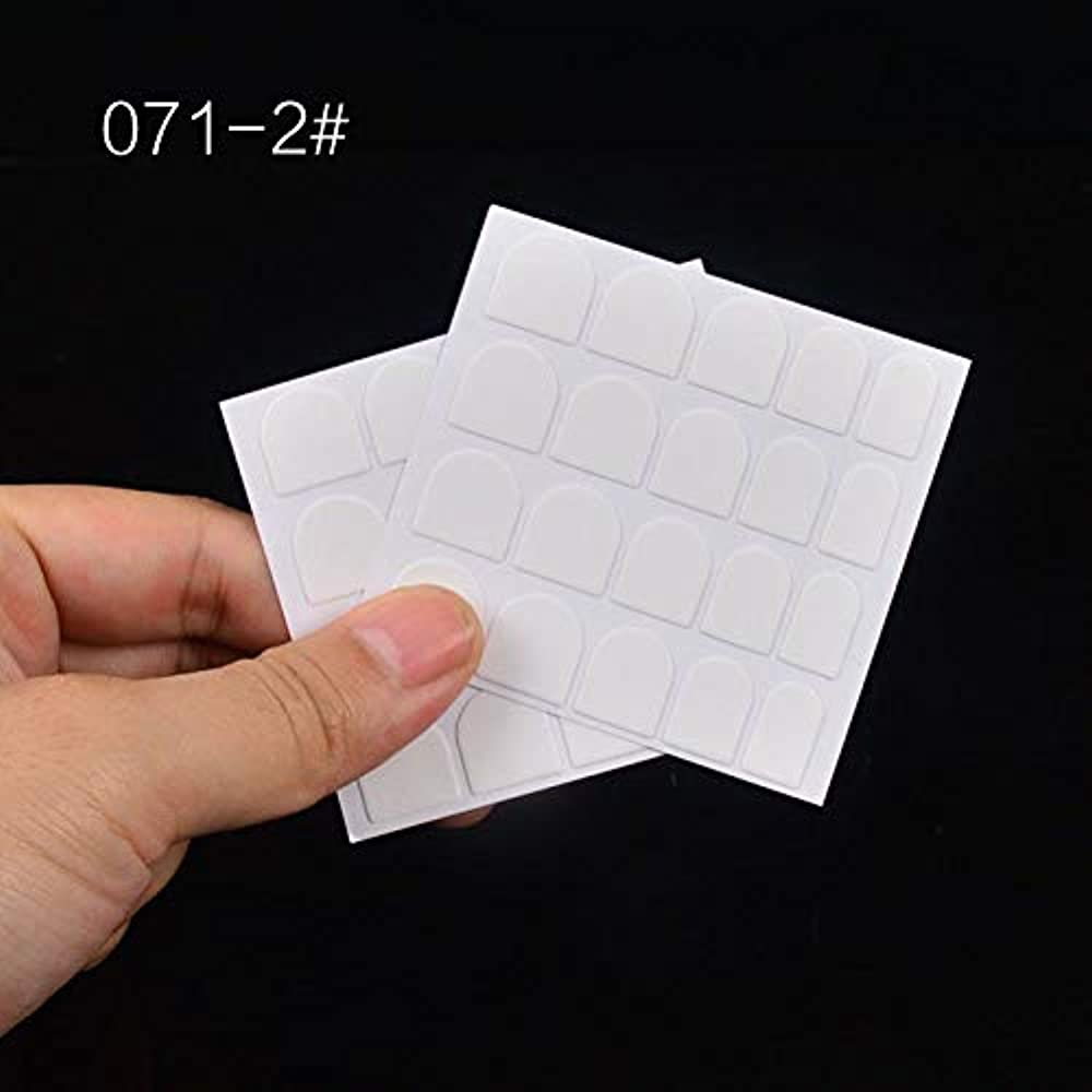 消毒するブル非アクティブSUKTI&XIAO ネイルステッカー 偽の偽の爪のヒントネイルアートツール、Bのための両面接着剤トップ透明クリアステッカー粘着テープ