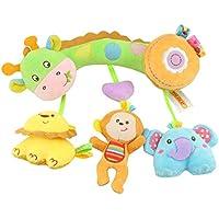 JIOLK ベビーベッドハンギング ベビーカー用おもちゃ ぶら下げ かわいい 赤ちゃん 玩具ベビーカートイ ベビーおもちゃ ベビーキッズベアー装飾おもちゃ ラトル 柔らかい 寝かしつけ用品