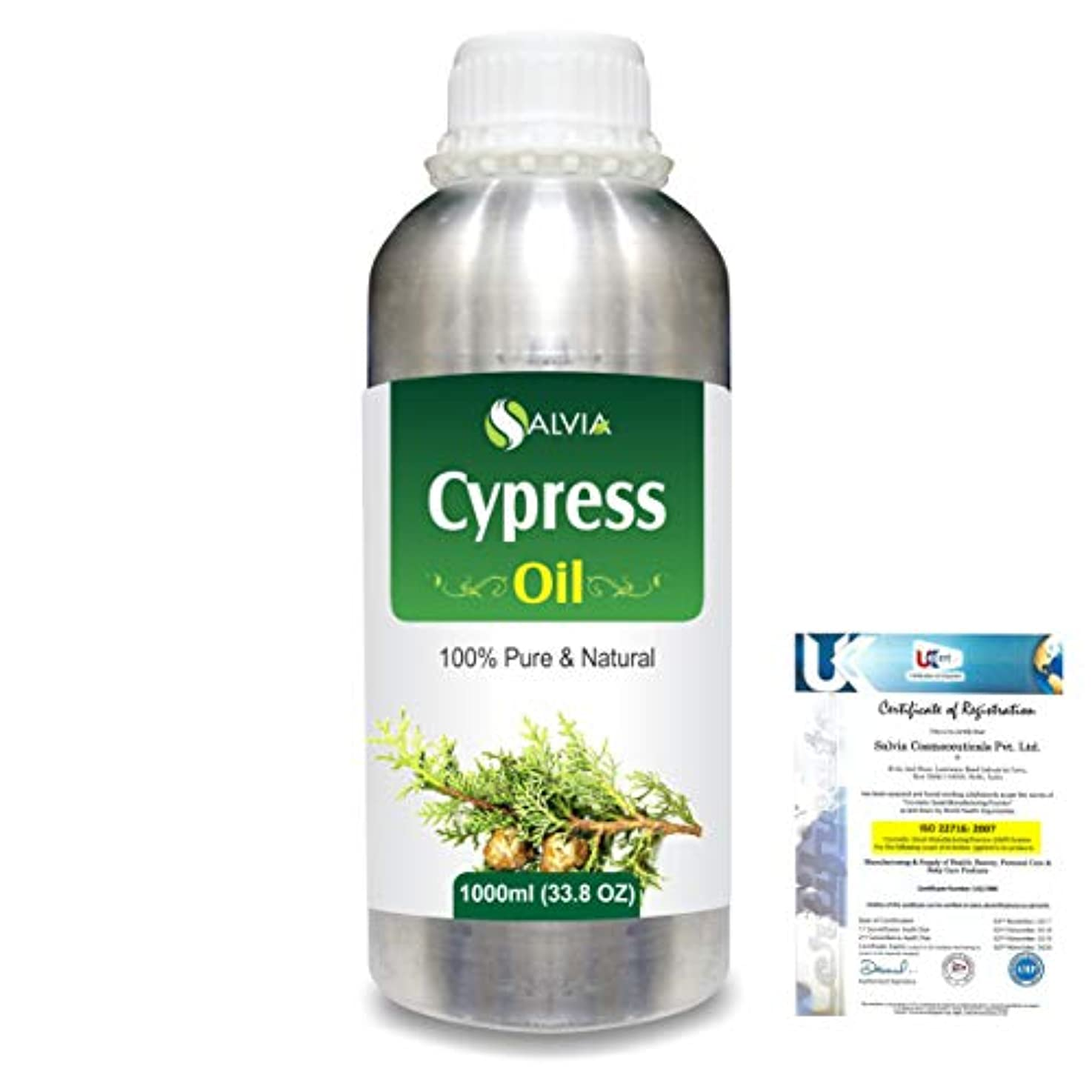 スラダムスキニー最終Cypress(Cupressus sempervirens) 100% Natural Pure Essential Oil 1000ml/33.8fl.oz.