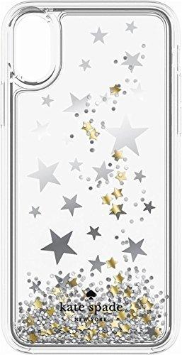 kate spade(ケイトスペード) iPhone X ハードシェルケース クリア x グリッター・シューティングスター [並行輸入品]